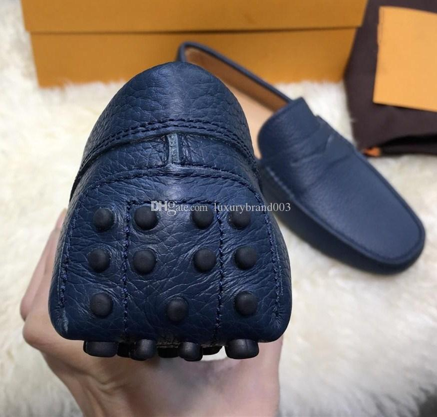 2018 latest designer New Peas shoes leather luxury men's fashion casual shoes men's driving shoes for summer