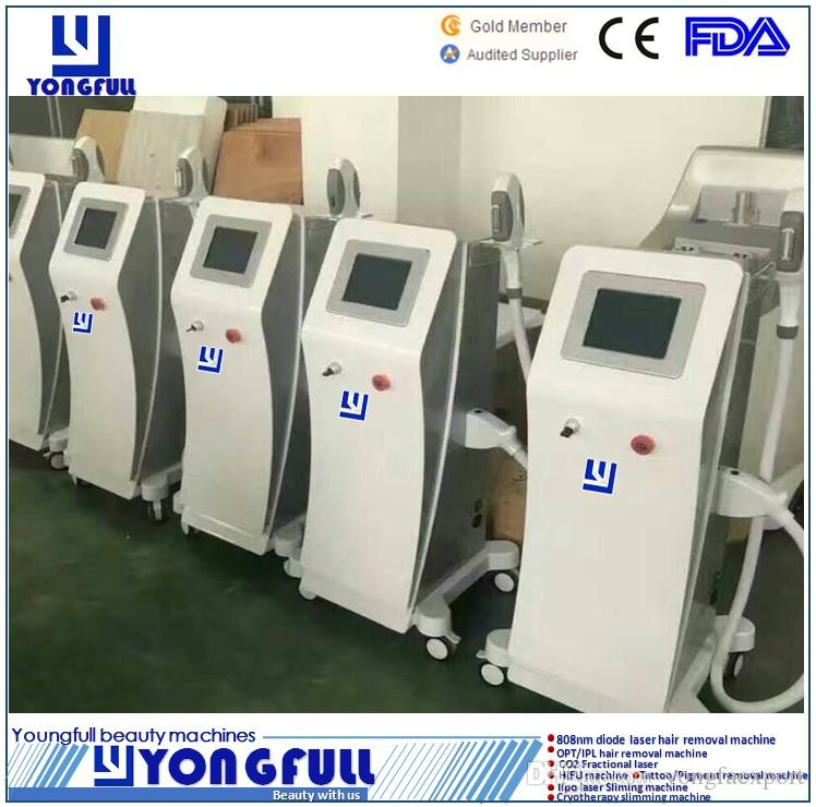 FDA standard CE ECM LVD approved factory price professional Painless fast permanent SPA Salon ICE diode laser IPL OPT hair removal machine