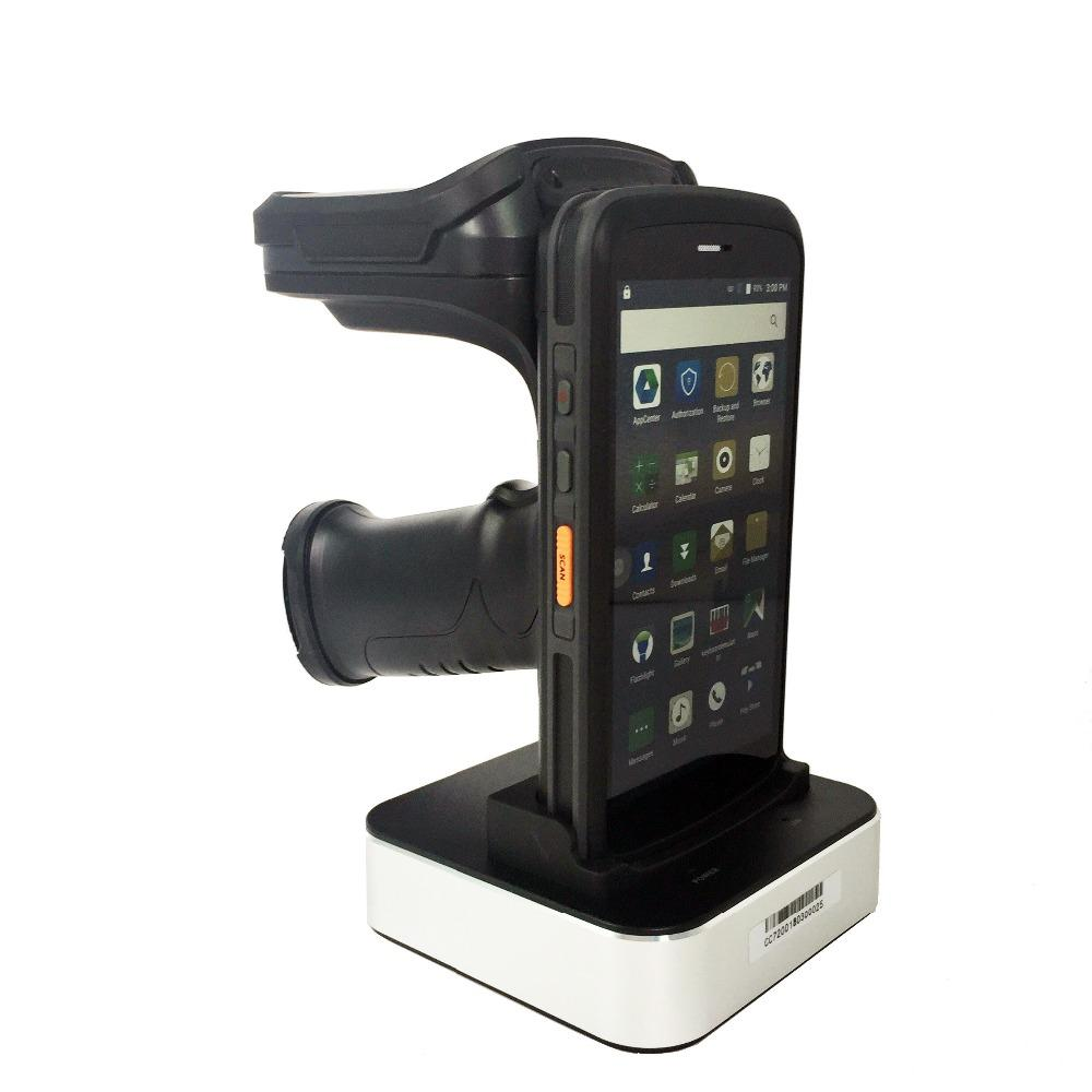 High Quality Mobile Data Collector Handheld PDA terminal 4G Android 6 0 1D  / 2D Barcode Scanner with UHF RFID reader Pistol Grip