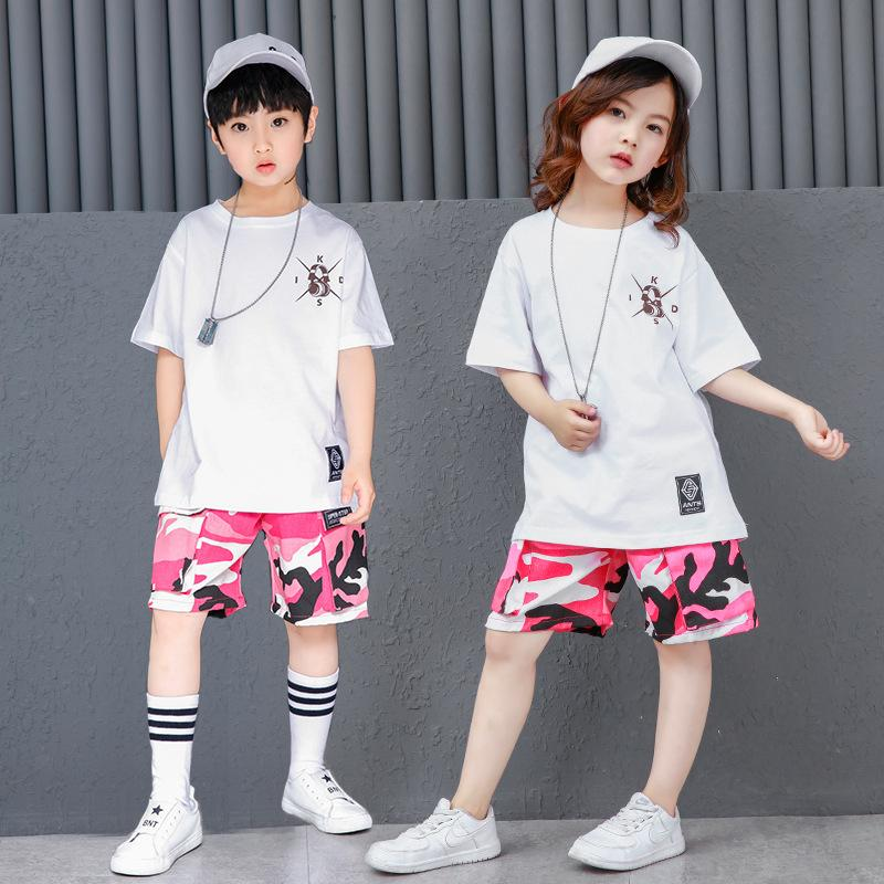 d25615343 2019 2018 Summer Teenage Clothing For Girls Boys Korean Street Style Hip  Hop T Shirt And Camouflage Shorts Kids Sport Suit 12 14 From Babytree_chen,  ...