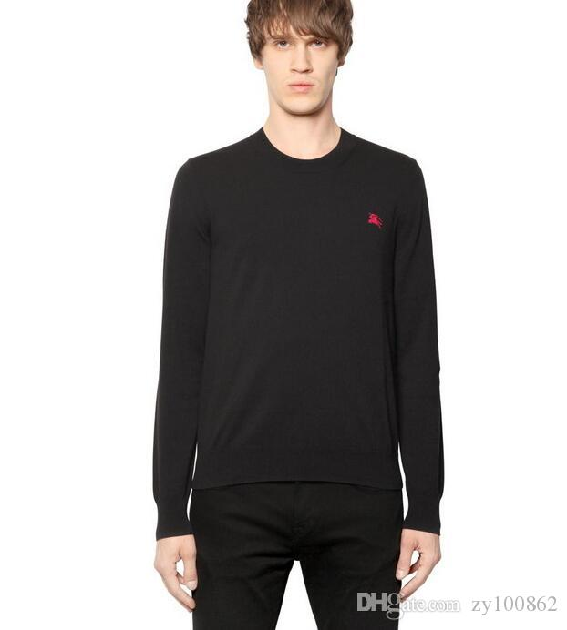 New top quality men Sweater brand 100% cotton Long sleeves Sweaters fashion skull & letter printed Men's Sweater