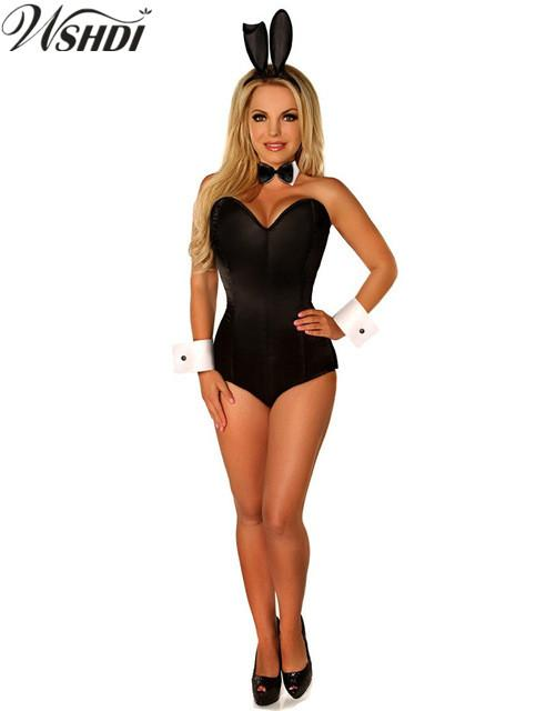 b19f46c574c 2019 Sexy Black Bunny Costume Halloween Rabbit Girl Corset Romper Suit  Nightclub Rabbit Jumpsuit Cosplay Bodysuit From Matilian