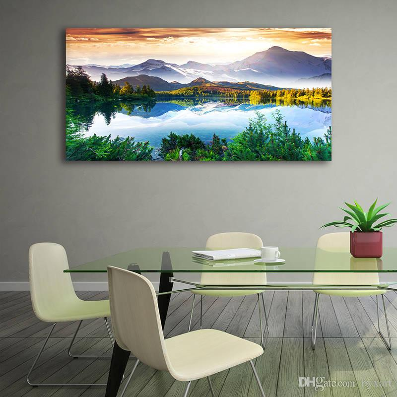 2018 1 panel pieces large landscape canvas prints painting wall art