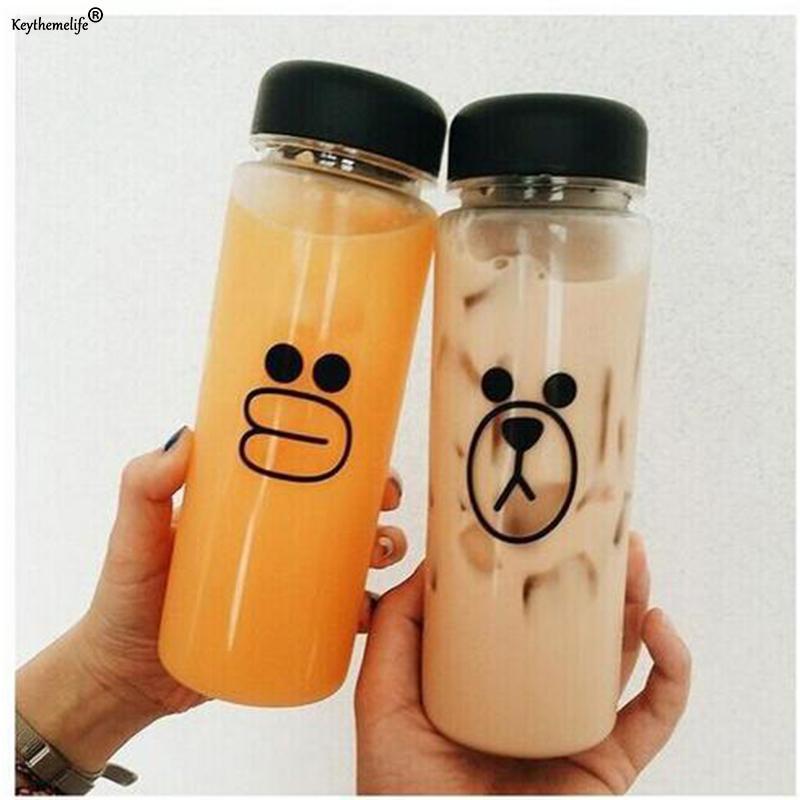 Bear Duck Plastic 500ml Pc Water Bottles Transparent Portable Sport