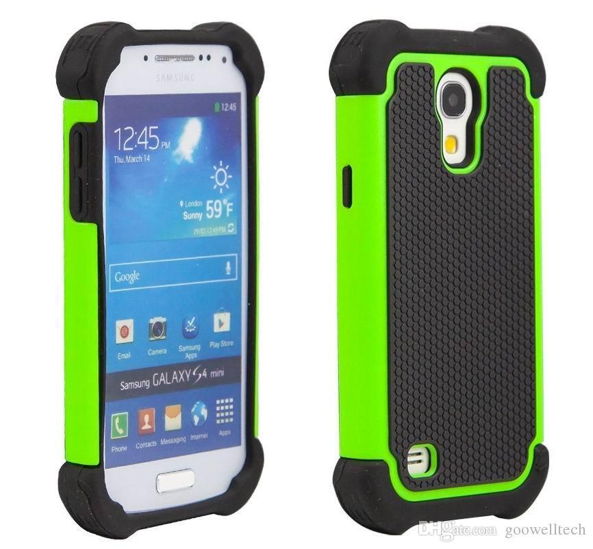 8235198fb51 Carcasa Personalizada Para Galaxy S4 Mini Funda Protectora De Protección  Contra Caídas Defender Hybrid Funda Protectora De Doble Cubierta Para  Samsung ...
