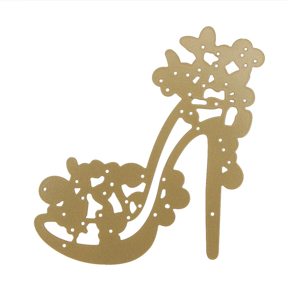 High-heeled Shoes Metal Cutting Dies Stencil for Scrapbooking Album Decorative Dies Craft DIY Embossing Paper Card Cutter