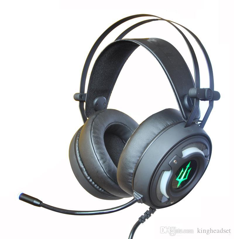 New 7 1 channel home theatre surround vibration breathe LED gaming headsets  Headphone for computer PS4 web bar