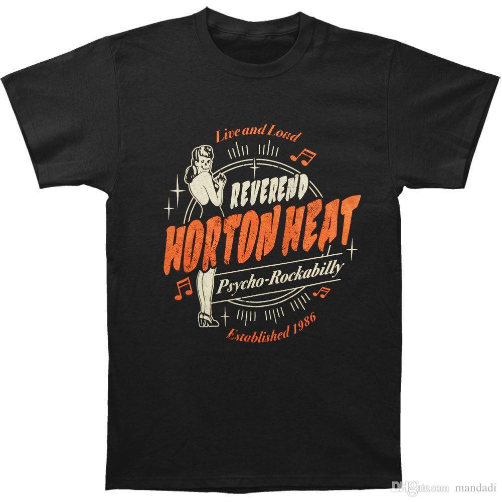 b8778ba57d Reverend Horton Heat Men's Live & Loud T-shirt Black