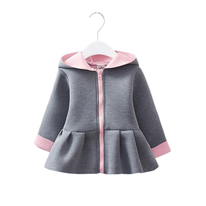 Cute Baby Girl Causal Trench Coat Solid Rabbit Ears Hooded Jacket Coat For  6 36M Babies Newborn Infant Outerwear Coat Clothes Cheap Winter Coats For  Girls ... 3eeca4b464da