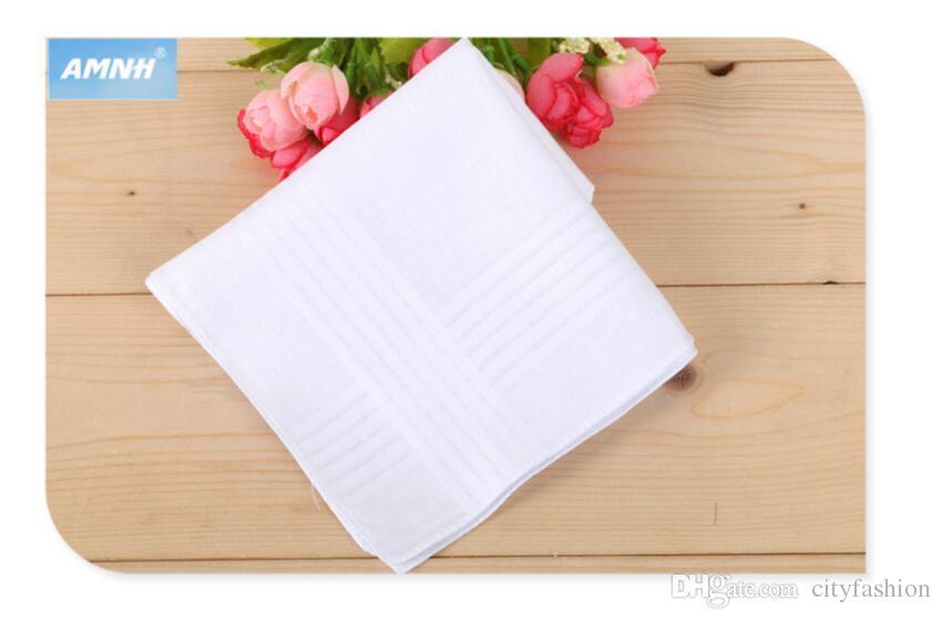 40*40CM White Handkerchief Pure White Handker Chief Pure Color Small Square Cotton Sweat Towel Plain Handker Chief