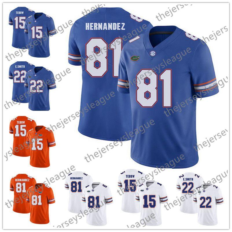 quality design ab142 e3f57 NCAA Florida Gators College Jersey #15 Tim Tebow 22 Emmitt Smith 81 Aaron  Hernandez White Orange Royal Blue Stitched Jerseys S-3XL