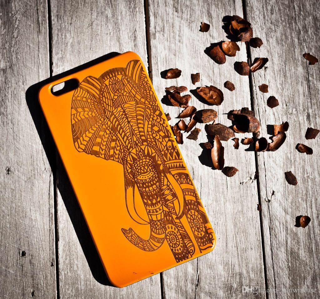 Beautiful Color Print Wood Case For IPhone 5 5s Seflash Mobile Phone Cases Apple 6 6s 6plus Plus Flash