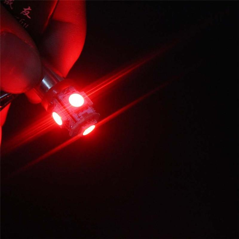 BA9S 5050 5SMD 1.2 W 6500 K 70LM 12 V Enstrüman Lambası Otomotiv LED Plaka Işıklar 12 v süngü led ampuller