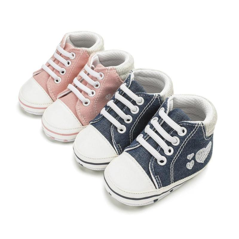 9c664d8c5d2df 2019 2018 Newborn Baby Boys Girls First Walkers Shoes Canvas Classic Sports  Sneakers Infant Toddler Soft Sole Anti Slip Baby Shoes From Universecp, ...