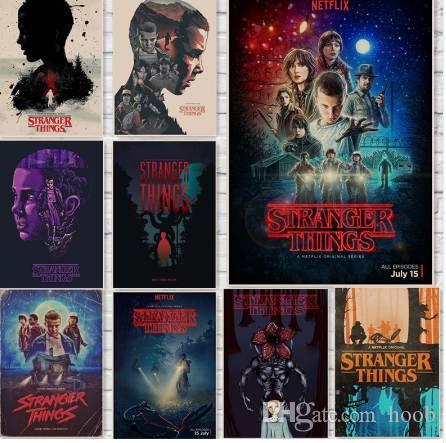 stranger things posters wall stickers home decoration tv show prints
