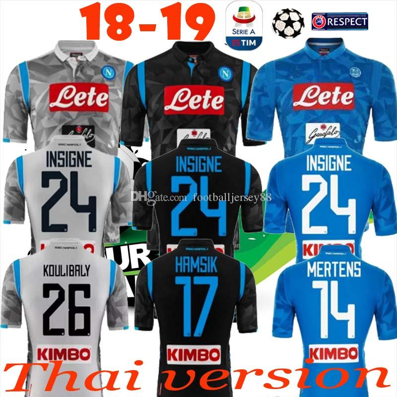 Compre 2018 2019 Napoli SSC Casa INSIGNE HAMSIK Camisolas De Futebol 18 19  Nápoles Terceiro Fora Preto Camisetas MERTENS Italia Calcio MAGLIA Camisa  De ... 59c7f5b36414b