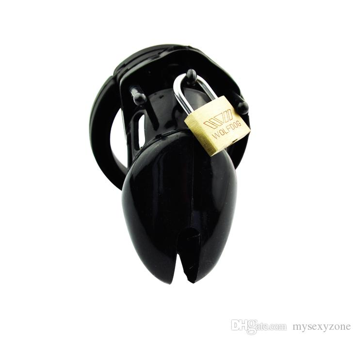 2018 New and High quality of Male chastity belt cb male chastity device cock cage silicone penis cage MKC205 black