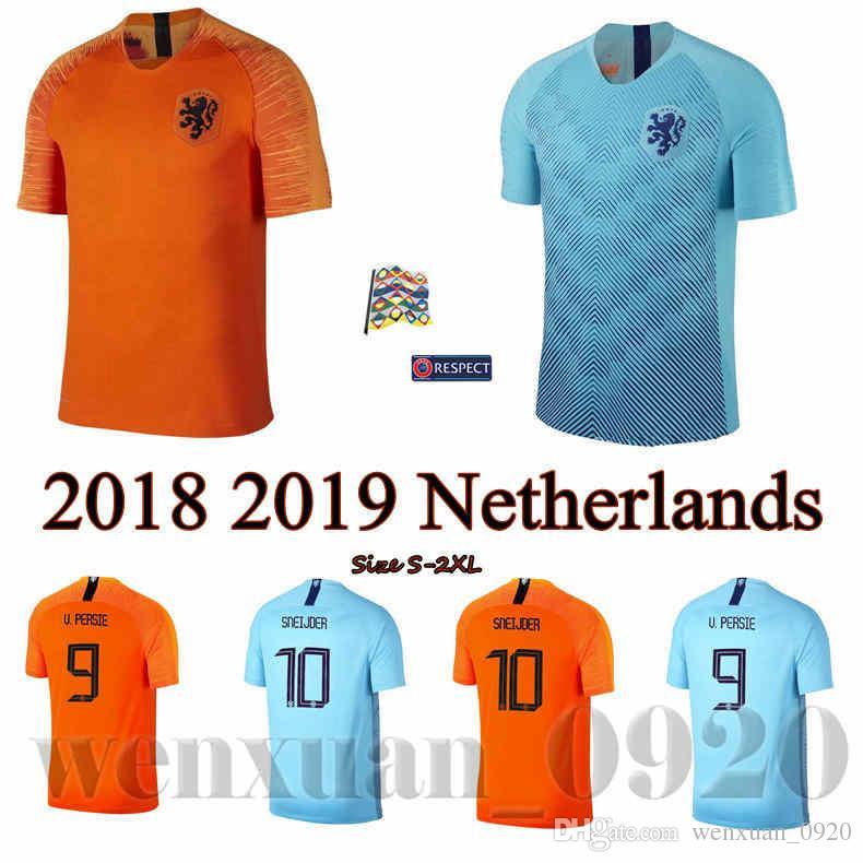 Compre 2018 2019 PAÍSES BAIXOS Camisa De Futebol Longe De Casa A Camisa  Holandesa ROBBEN VIRGIL DOST NEDERLAND 18 19 MEMPHIS Dutch HOLLAND Camisas  De ... a4cbf64f89858