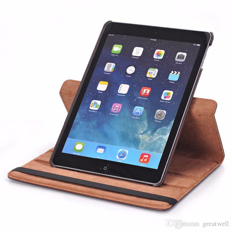 Caso de soporte de cuero giratorio giratorio de 360 para iPad 10.2 Pro 11 10.5 9.7 MINI 6 2345