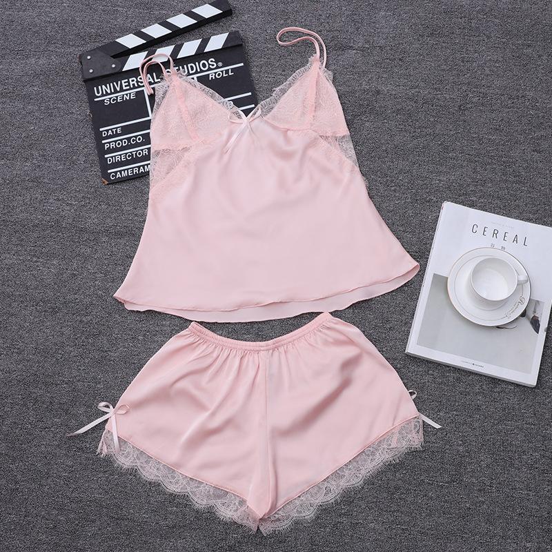 2018 Womens Pajamas Lace Women Pajamas Set Clothing For Women ... 223ab34d0