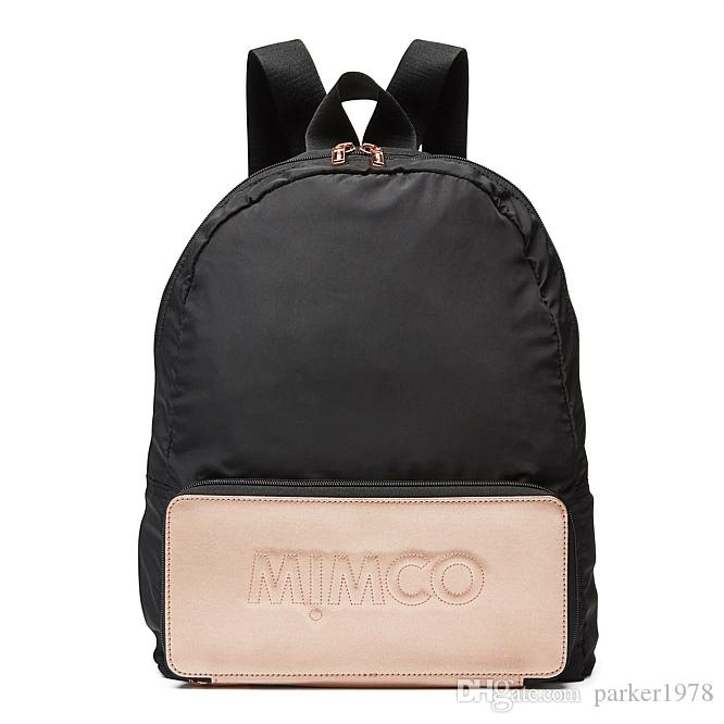 a803bef83d81 MIMCO Fashion WomenBLACK ROSEGOLD FOLDABLE BACKPACK AUXILIARY BACKPACK