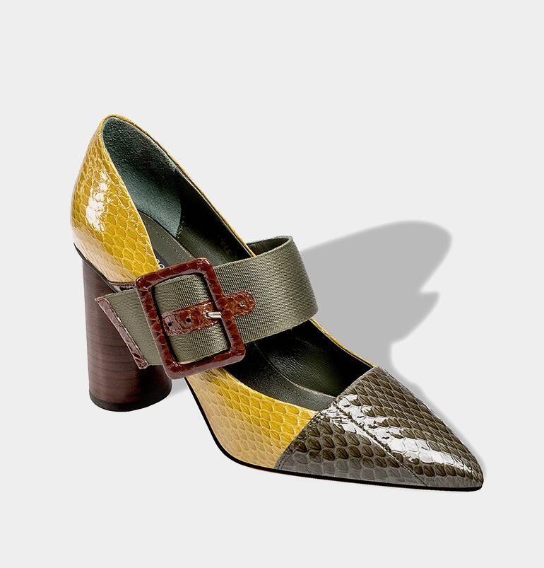 Otoño Compre 2018 Tacones Nuevos Altos De Zapatos Punta Solos Con Cqt7q