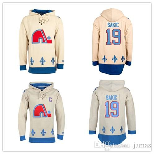 2019 Custom XS 5XL Quebec Nordiques Joe Sakic Vintage Heavyweight Jersey  Lacer Hoodie Stitch Sewn Any Name Any Number From Jamas 57794b4e9dd