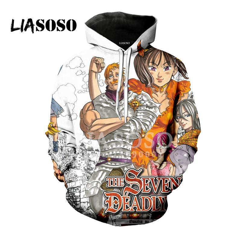 Acquista LIO New Anime The Seven Deadly Sins Escanor Stampa 3D Donna Uomo  Felpe Con Cappuccio Felpe Pullover Harajuku Hip Hop X0980 A  31.68 Dal  Cutee ... 33cf07c66f4d