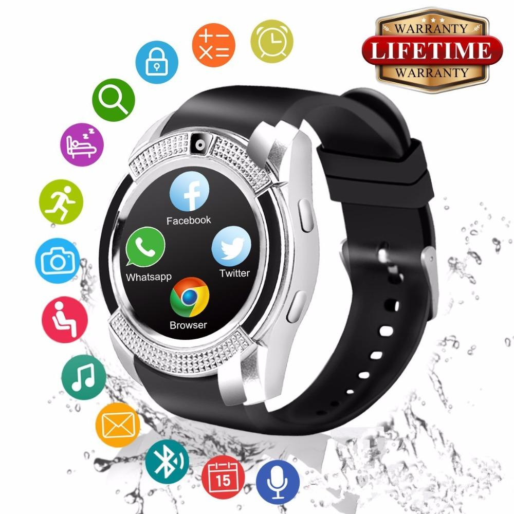 bf078ac6f938c5 2018 Best Bluetooth Android Smart Watch Touch Screen Fashion Cell Phone  Smartwat For Samsung Huawei Kids Men Women Smat Watch Smartwatch For Ios  Devices ...