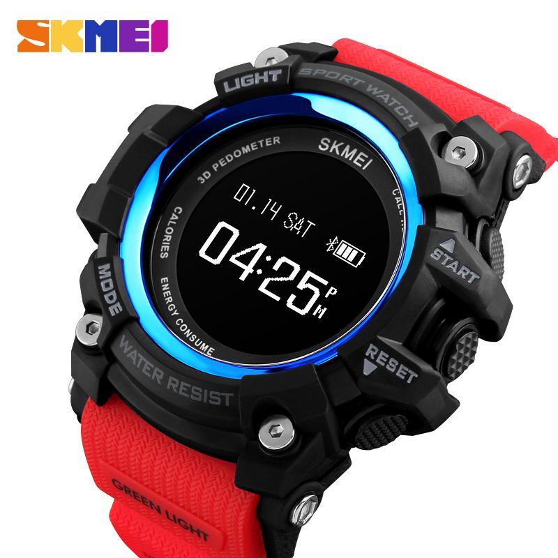 Skmei Luxus Bluetooth Digitale Smart Uhr Sport Heart Rate Monitor Schrittzähler Uhr Bluetooth Männlichen Armbanduhr Relogio Inteligent Uhren