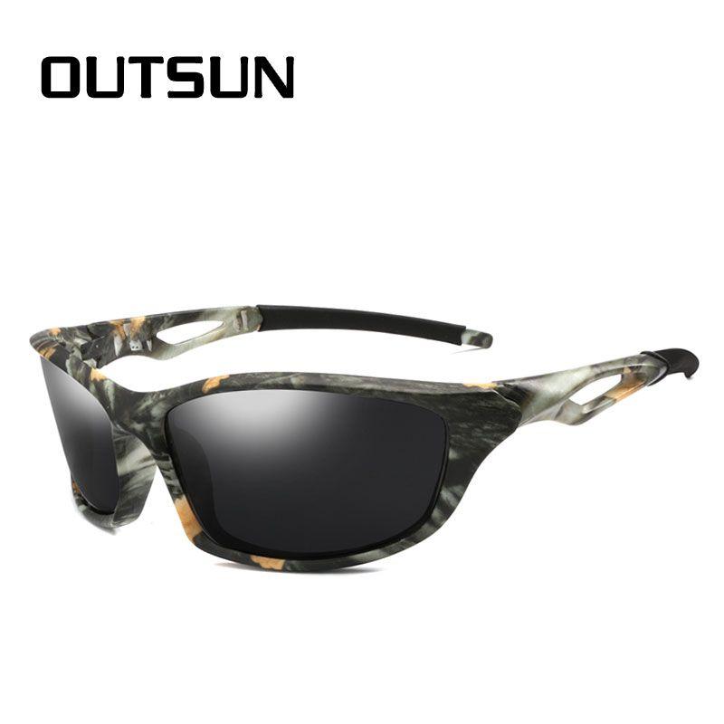 98f5c70d2b1 OUTSUN Polarized Sunglasses Men Camo Style Sport Fishing Driving Sun Glasses  Brand Designer De Sol Baseball Sunglasses John Lennon Sunglasses From ...