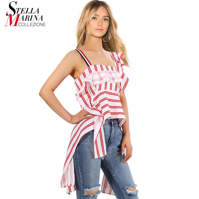 ea935dca New 2018 European Fashion Women Summer Strap Top Tee Sleeveless Pink Black  Striped T Shirt Style Girls Sexy Stylish T Shirt 3752 Awesome Tee Shirt  Designs T ...
