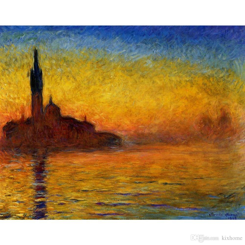 2019 hand painted claude monet oil paintings canvas twilight venice modern art landscape wall decor from kixhome 128 65 dhgate com