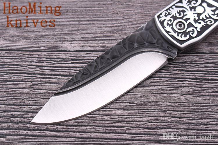 Marka OEM açık taşınabilir pratik katlanır bıçak çok avcılık taktik savaş bıçakları kamp survival Titanyum Yüksek EDC araçları