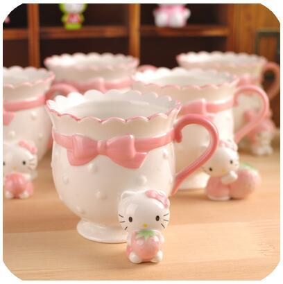 Cartoon Bonjour Kitty My Melody Os Céramique Café Lait Tasse Tasse Meilleur Cadeau D Anniversaire Pour Lady Girl