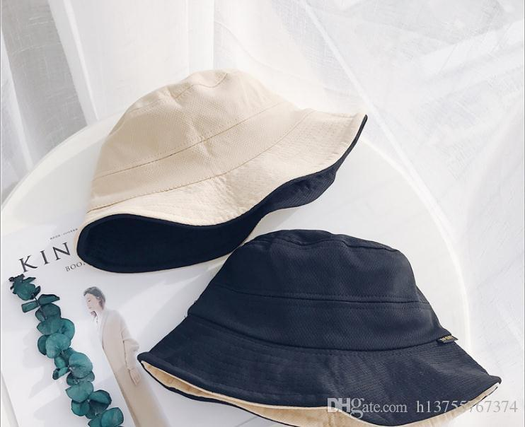 2018 Hot Selling Trend Hat Children Spring And Summer Pure Color Double  Sided Bonnet Casual Folding Fisherman Hat Travel Shade Hat Korean Ve Tilley  Hat ... f75f4afea20