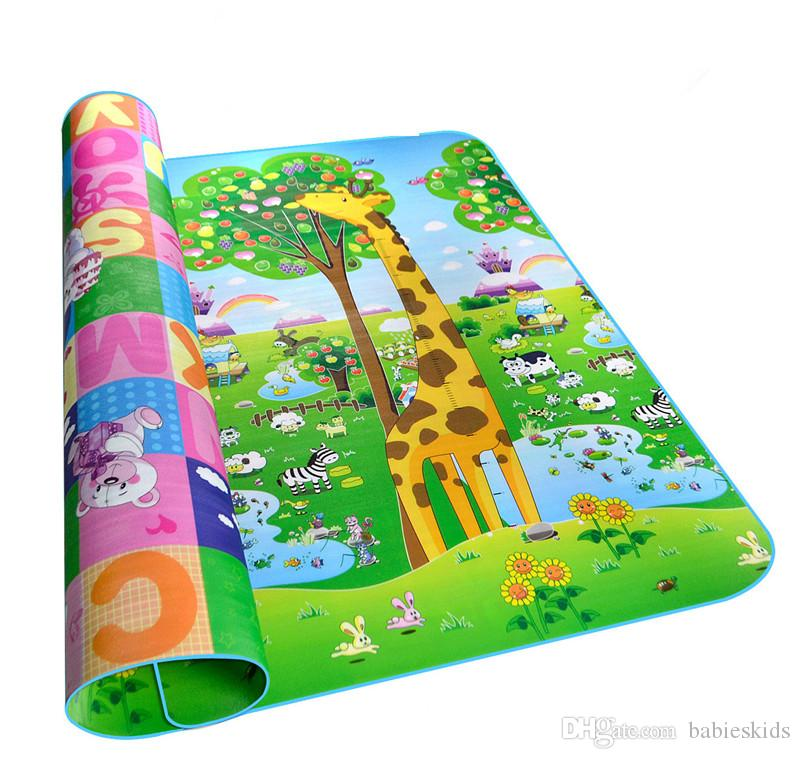 Baby Crawling Play Puzzle Mat Children Educational Carpet Toy Double-sided Soft Floor Game Carpet Toy Developing Mats Children Kids Rug