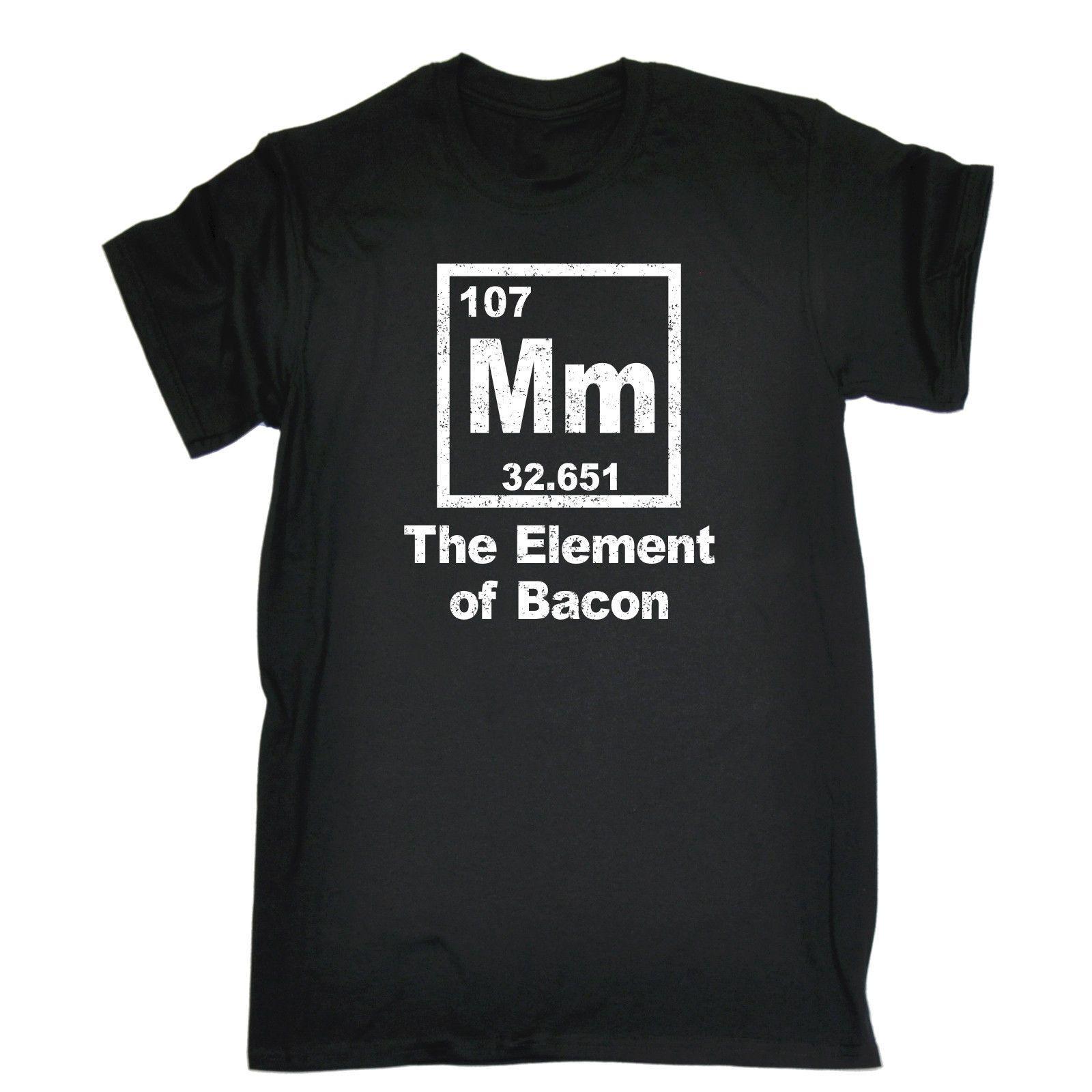 Compre Mm The Of Bacon Tabla Periódica Camiseta Chef Cocina Cocinero Regalo  De Cumpleaños Camisetas Con Cuello En O Fresco Camiseta De Regalo Más  Tamaño Y ... 26ea4bbaf36