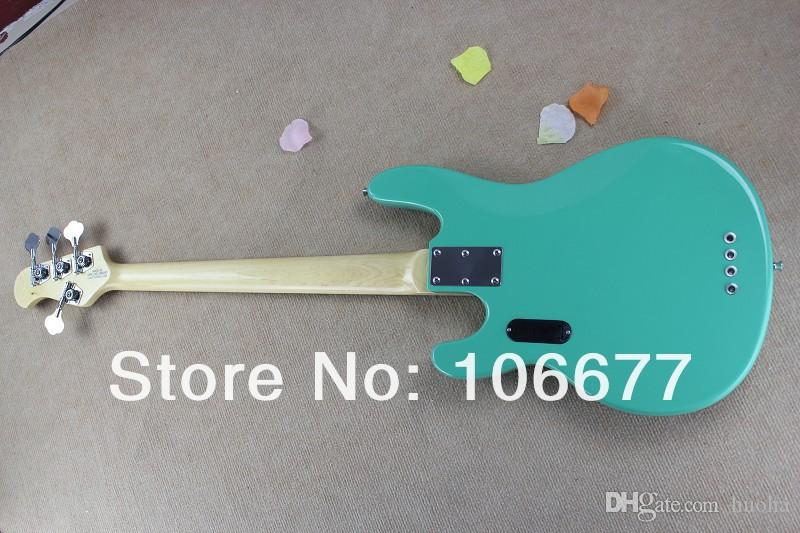 !! Hot Sale High Quality Ernie Ball Musicman Music Man Sting Ray 4 Strings Green Electric Bass Guitar In Stock