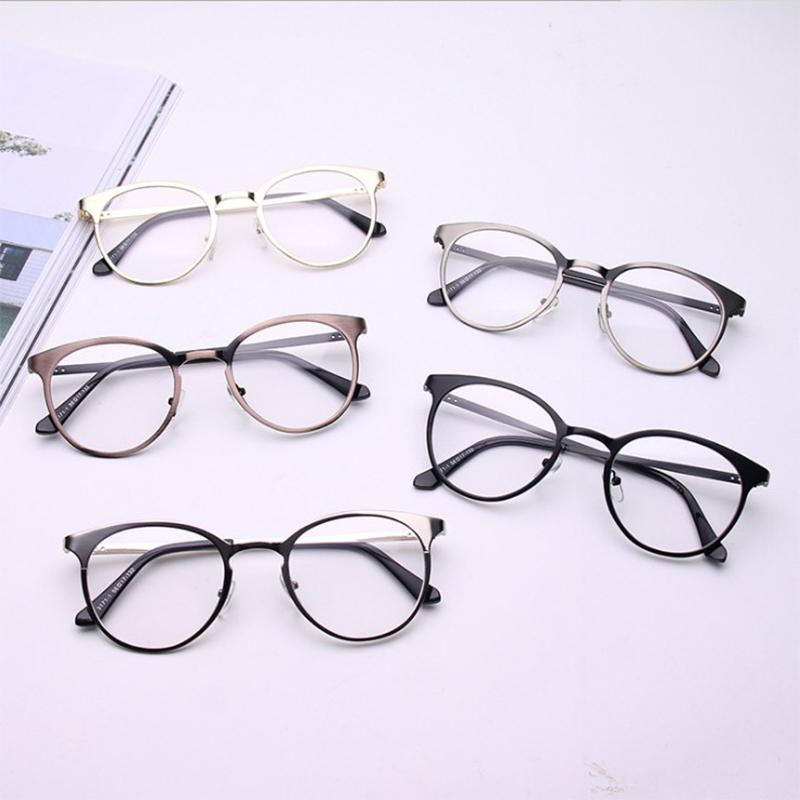 21973e5f9e2 SHELI Retro Myopia Round Women Glasses Frame Female Flat Optical ...
