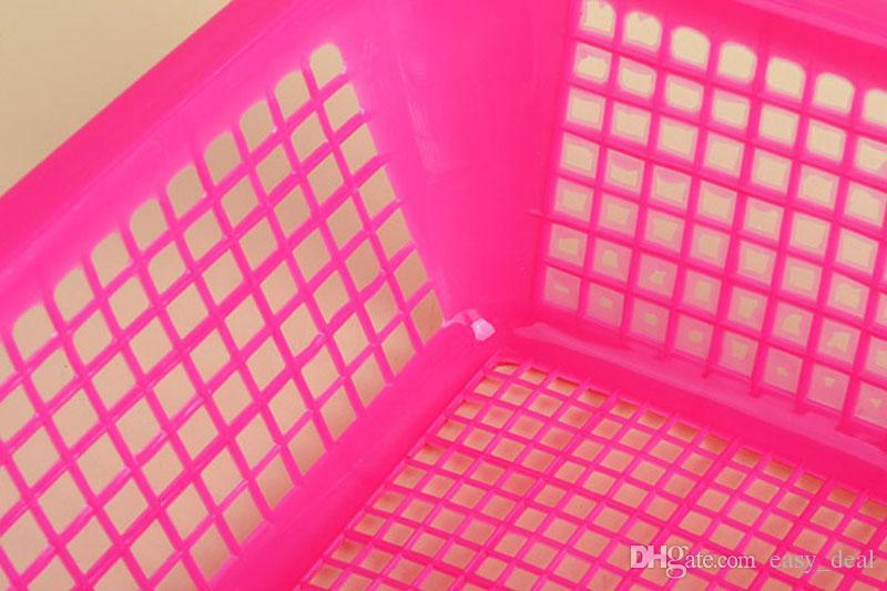 Rectangular Plastic Storage Baskets 35*26.5*8.7cm Large Bathroom Cosmetic Seasoning Orgainzer Kitchen Desktop Organizer ZA5919