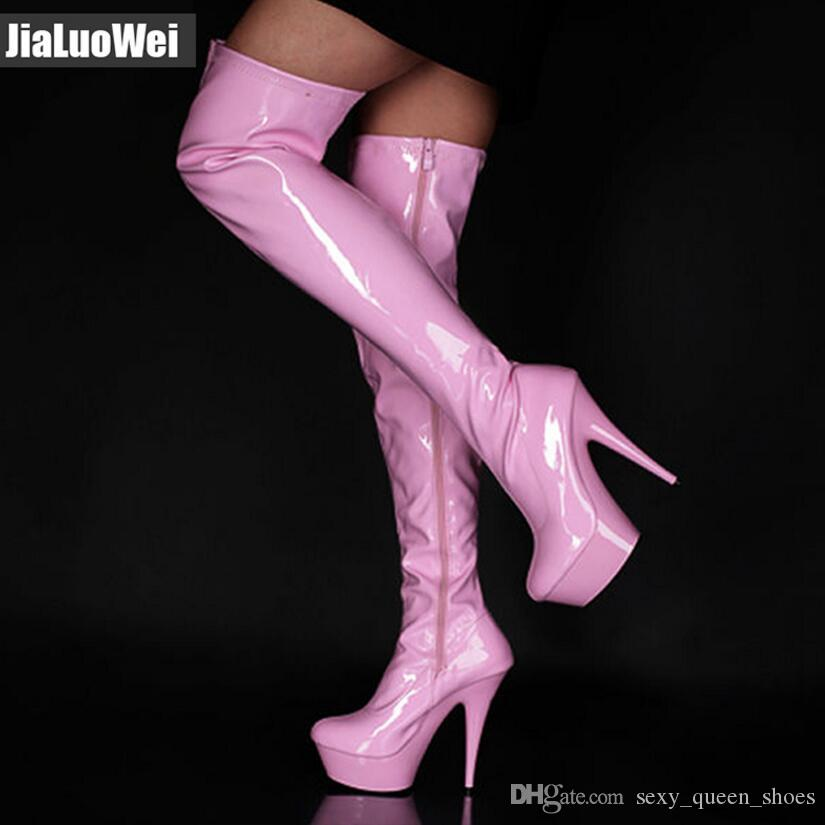 2019 NEW Over The Knee Long Boots Women Sexy Platform Boots Snow Boot Man Pole Dance Shoes Zip Thigh High Boots 15cm