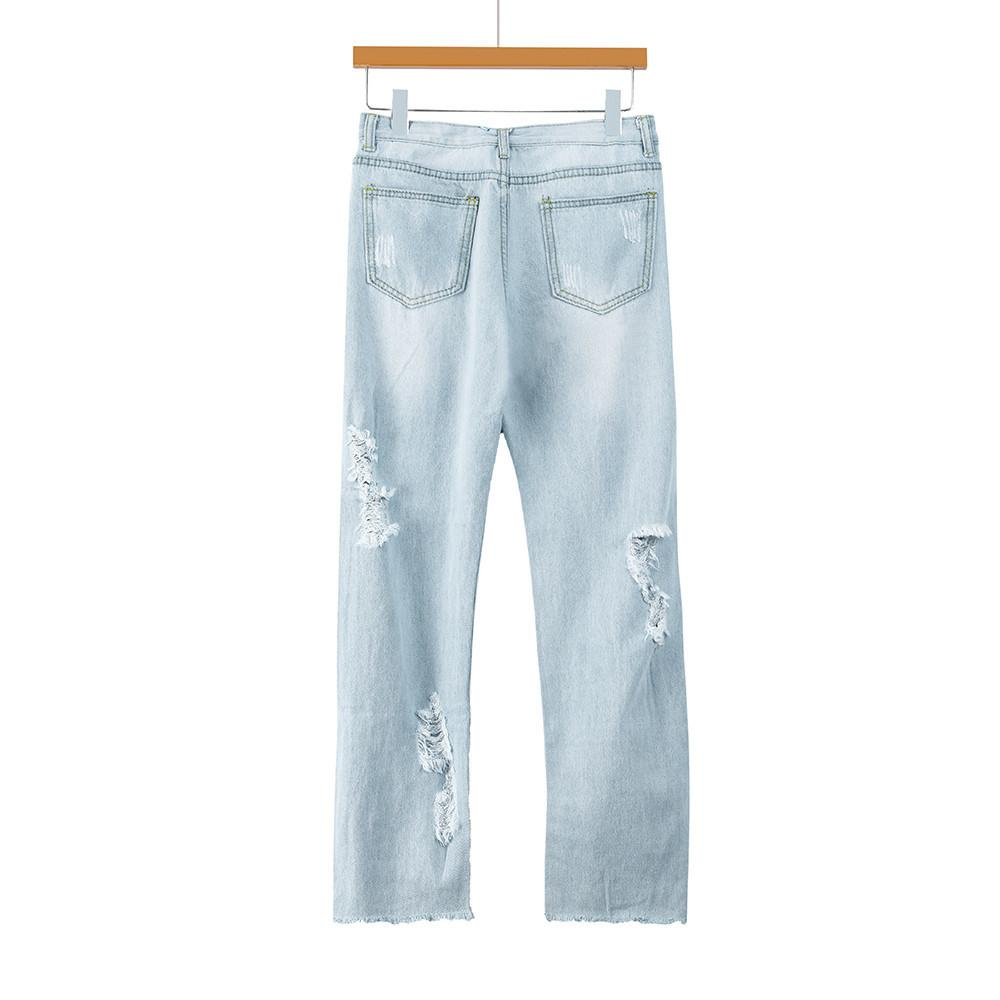 ba7b05bda2 Compre Pantalones De Mujer Feminino Nuevos Jeans Negros Para Mujeres  Fashion Skinny Hole Denim Mujer Cintura Mediados De Estiramiento Slim Sexy  PAUGH0 A ...