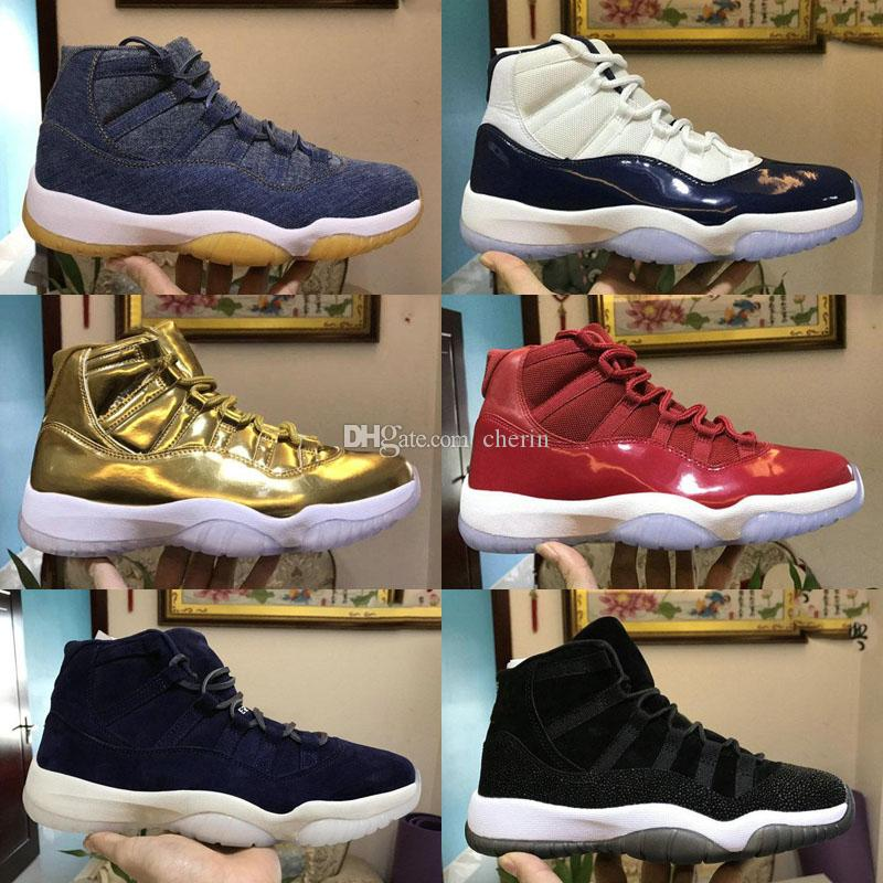 860725bf9a32 Cap And Gown 11 XI 11s PRM Heiress Black Stingray Gym Red Chicago Midnight  Navy Space Jams Men Basketball Shoes Sports Sneaker Jordans Sneakers  Sneakers ...