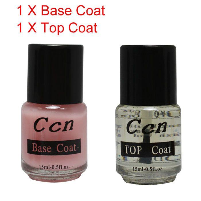Print New Base Top Coat Acrylic Nail Art False Tip Polish 15ml Salon ...