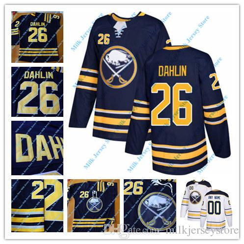 cheap for discount ac4e1 b40ce 26 Rasmus Dahlin Jersey 53 Jeff Skinner 9 Jack Eichel Buffalo Sabres Hockey  Jerseys Navy White Size S-3XL 100% Stitched