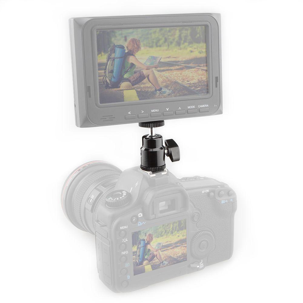 CAMVATE 1/4 Hot Shoe Mount Mini Ball Head Flash Bracket Holder Screw fr Camera Tripod