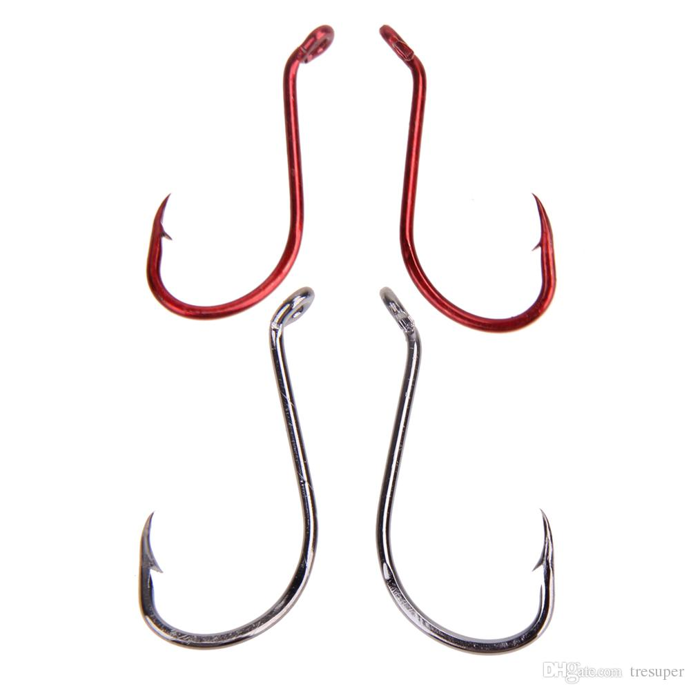 Octopus Fishing Hook Size1#,2#,4#,6# High Carbon Steel Fishing Hooks Freshwater Fishhook hole Strong Carp Fish Tackle
