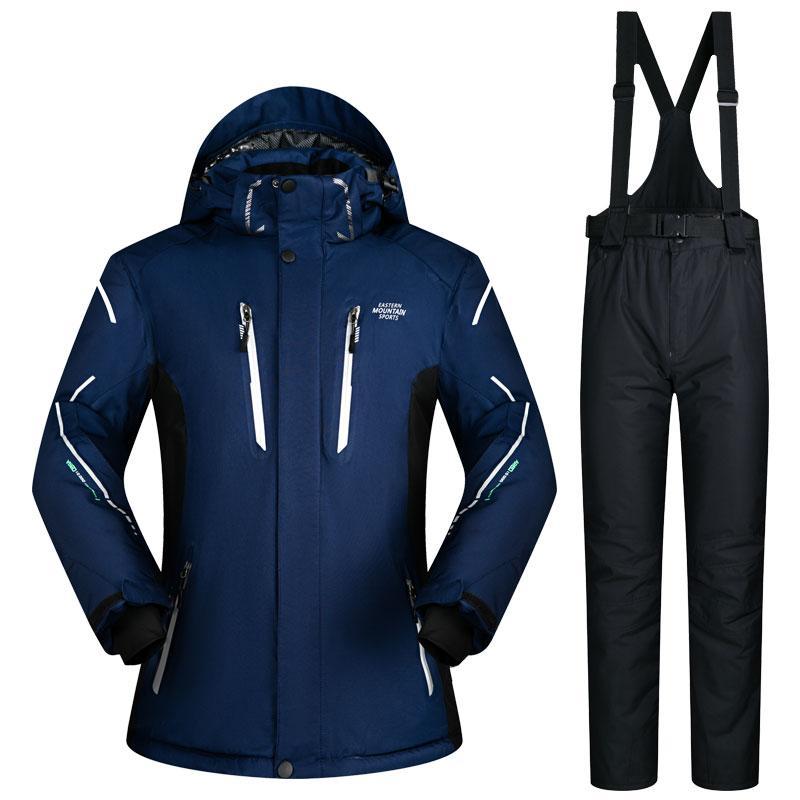 569759399d6dfc Nouvelle combinaison de ski hommes Ensembles de ski et de snowboard Super  chaud imperméable coupe-vent veste de snowboard Pantalon de ski hiver ...