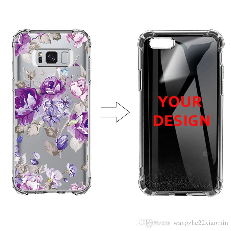 new arrival 889a3 f082a DIY Custom Photo Transparent Soft Silicone Case for Samsung note 9 S9 S9  PLUS Dropproof Air Bag Phone Shell